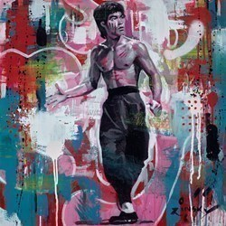 Fist of Fury by Zinsky -  sized 23x23 inches. Available from Whitewall Galleries